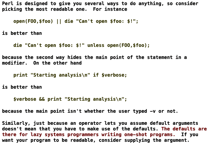 Perl's Natural Language Features